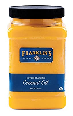 Butter Flavored Coconut Oil by Franklin's Gourmet Popcorn. 30 oz Tub. from Franklin's Gourmet Popcorn