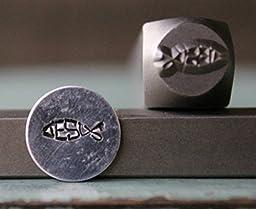 Brand New Supply Guy 8mm Jesus Word Fish Metal Punch Design Stamp CH-109