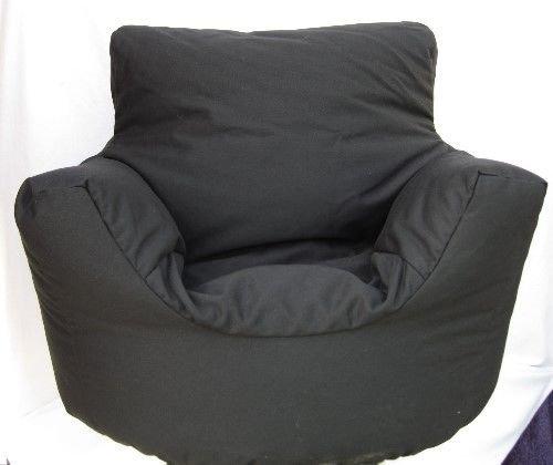 Cotton Black Bean Bag Arm Chair Seat Hallways R