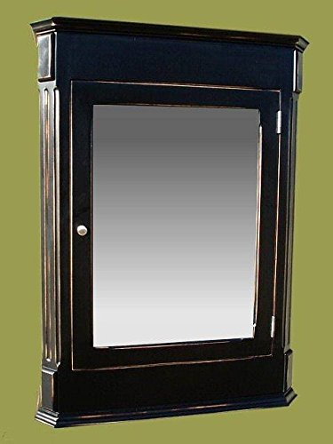 Ludwig Antique Black Medicine Cabinet / Surface Mount / Solid Wood & handcrafted. by D&E Wood Craft Cabinets (Image #2)