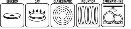 Fonte daluminium 38/x 25,5/x 12,5/cm Noir 10/unit/és GSW Gourmet 414432/Induction Set de 10/pi/èces