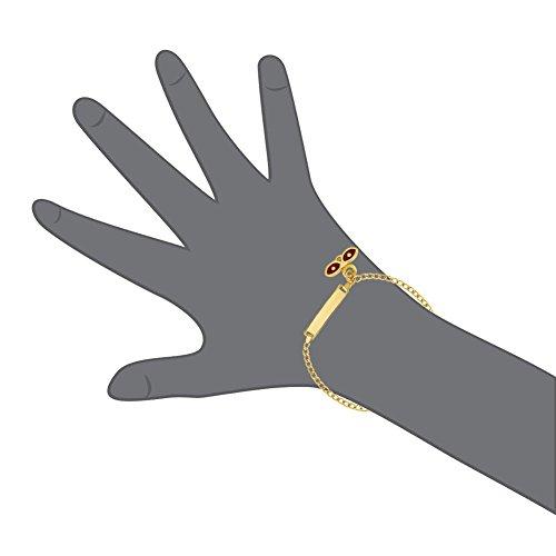 ecea420f3a4e In Season Jewelry - Chapado en Oro 18k Esmalte Rojo Santa Lucia Protección  Contra el Mal