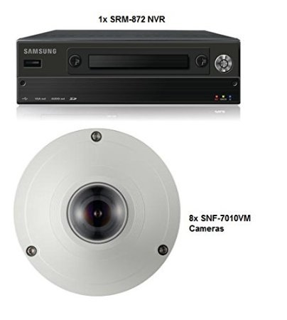SS320 - SAMSUNG SRM-872 8 CHANNEL CCTV MOBILE NETWORK VIDEO RECORDER 1TB H.264 MJPEG POE + 8x SNF-7010VM CAMERAS FISHEYE LENS 3 MEGAPIXEL POE IP66 SYSTEM FOR BOATS, BUSES, TRAINS, PLANES ETC Mjpeg Network Camera