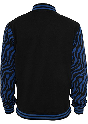 2-tone Zebra College Jacket roy/blk L