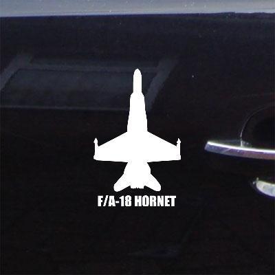 Decal F-A-18 Hornet Notebook White Car Bike Die Cut Auto Wall Art Home Decor Wall Art Military Soldier Window Helmet