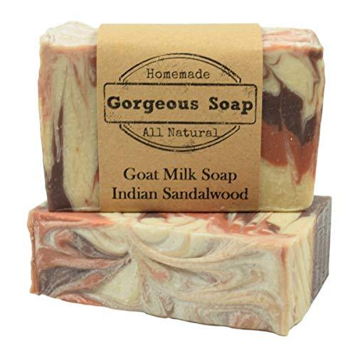 - Indian Sandalwood Goat Milk Soap - All Natural Soap, Handmade Soap, Homemade Soap, Handcrafted Soap