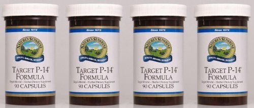 TARGET P-14 Herbal Dietary Supplement, 90 Capsules, ''FAST SHIPPING'' 4 PACK SAVING! by Nature's Sunshine