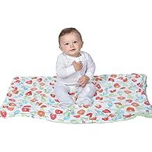 Toddler Blanket, Very Hungry Caterpillar Baby Blanket, Plush, Soft, Large Crib Blanket, Kids Blanket, Double Layer Blanket, Stroller Cover, 30'' x 40'' ,Green, Neutral