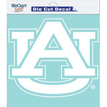 WinCraft Auburn Tigers Decal 8x8 Die Cut White
