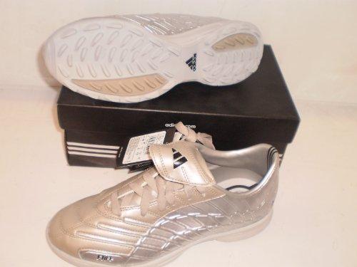 Adidas Kinderfussballschuhe F10+ TRX TF, silber/mattgold, Gr. UK 5,5