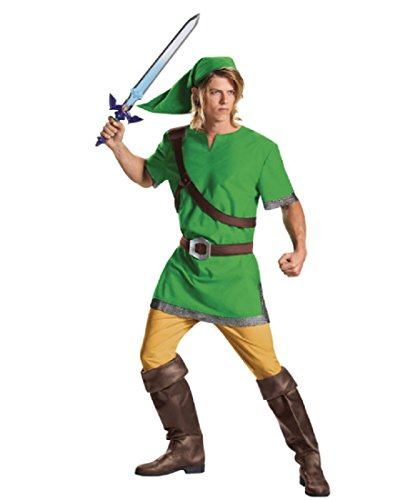 Disguise Men's Link Classic Adult Costume, Green, Medium]()