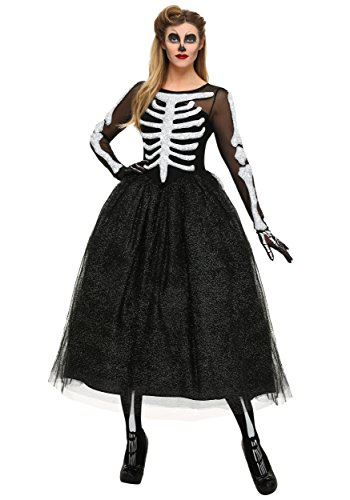 Women's Skeleton Beauty Plus Size Costume Skeleton Dress Women 2X Black,White -