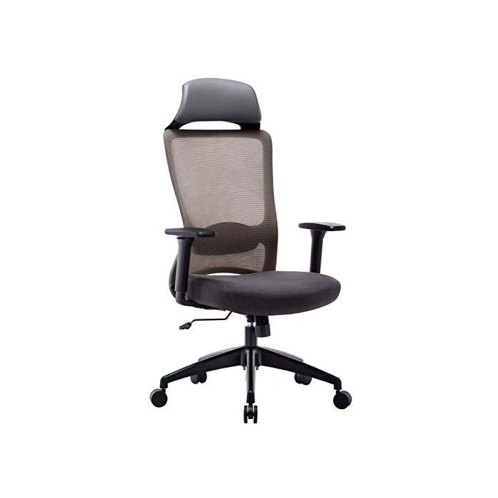 41FvZuBbORL ✔ Respaldo Ergonómico: El diseño de malla hace que el respaldo de silla sea transpirable, es más conveniente para usar en verano. La silla ergonómica de oficina con soporte lumbar, reposabrazos ajustables y reposacabeza para hacerle disfrutar más después del trabajo. ✔ Asiento Transpirable: El asiento acolchado es grueso y tiene buena elasticidad. Hecho de esponja gruesa de alta calidad y malla transpirable. No hace que el cuerpo se siente caliente, mantenga sus nalgas y piernas libres de sudor. ✔ Múltiples Ajustes: Los controles neumáticos facilitan subir o bajar el asiento, a través de sacar el asa puede realizar el modo de giro, puede inclinar el respaldo conjunto con asiento por pequeño ángulo, los brazos de 3D son ajustables con la altura, además puede realizar el ajuste de poco ángulo de dirección paralela.