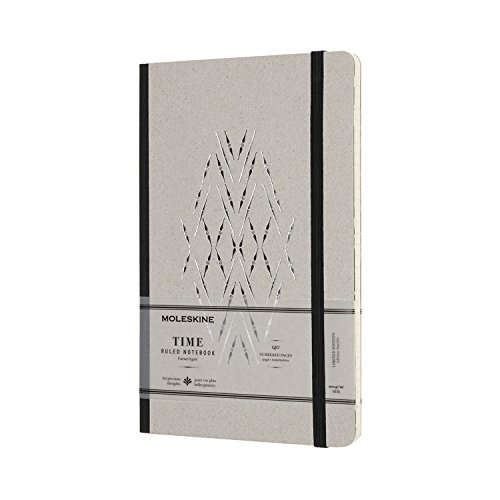 Moleskine Limited Collection Time Notebook, Large, Ruled, Black, Hard Cover (5 x 8.25) by Moleskine