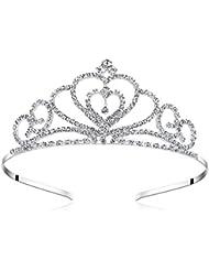 amazon headbands hair accessories beauty personal care Eighteenth Century Beauty lovelyshop rhinestone crystal tiara wedding bridal prom birthday pegeant prinecess crown heart