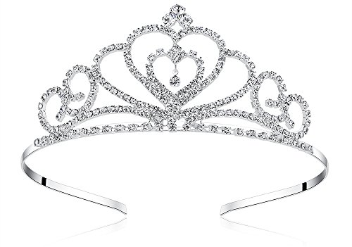 - Lovelyshop Rhinestone Crystal Tiara-Wedding Bridal Prom Birthday Pegeant Prinecess Crown (Heart)