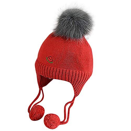 Baby Winter Hat for Boys Girls Ball Hat Kids Warm Knitted Hat Newborn Beanie Cap Fashion Cute Infant Cap 1030 -