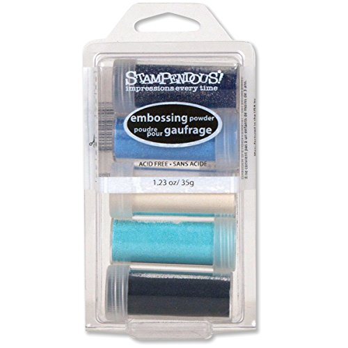 Stampendous Embossing Powder Kit, Submerge, 5-Pack (EK16)