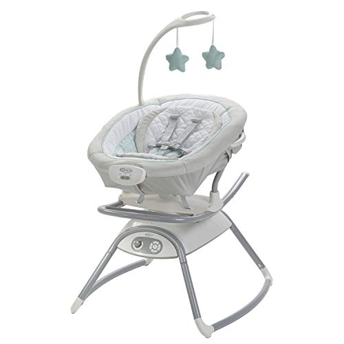 Graco Duet Glide Gliding Swing with Portable Rocker, Winfield (Best Swing Bouncer Combo)