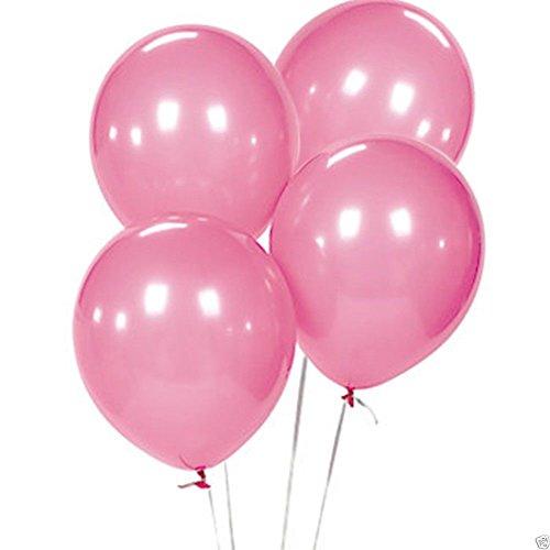 [100 x Pink Birthday Wedding Party Decor Latex Balloons 12
