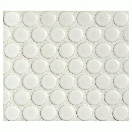 Penny Round Tile Arctic White Porcelain Mosaic Matte Look Marble - Cheap penny round tile