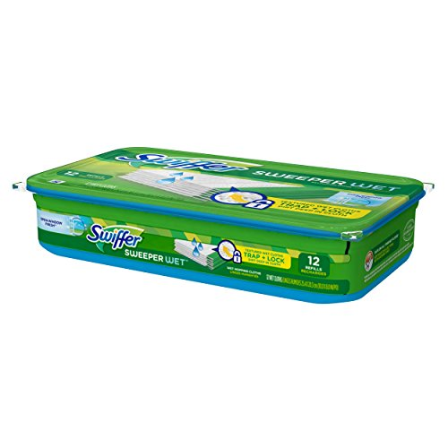 Swiffer Sweeper Wet Mopping Pad Refills for Floor Mop Open Window Fresh Scent 12 Count(Pack of 6)