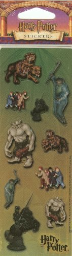 Harry Potter Glossy Stickers - Chess Pieces, Fluffy, Magical Creatures