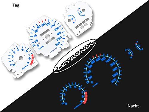 Discos de tac/ómetro para coche Civic 92-95 0-220 km//h 9000U//min LETRONIX