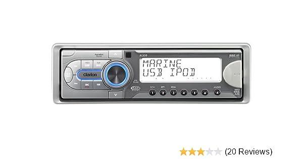 amazon com clarion m309 cd mp3 wma marine receiver with usb port rh amazon com Clarion EQS746 Clarion CMD6