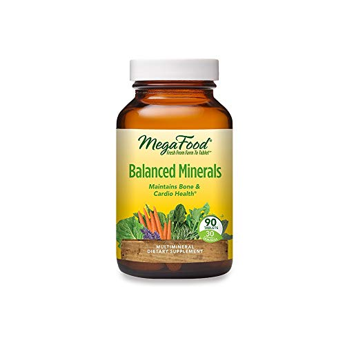 MegaFood Balanced Minerals – Helps Maintain Bone and Cardiovascular Health – Multimineral Supplement with Essential…