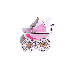 muluo 50pcs papel con forma de carrito de bebé Candy caja para niños ...