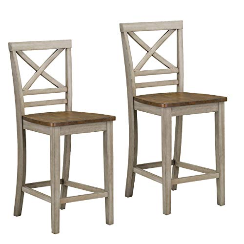 Standard Furniture 12874 Fairhaven Counter Height Barstool, Grey, Grey