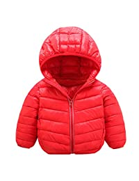 Baby Winter Jacket Coat Kids Hooded Puffer Jacket Lightweight Boys Girls Outfits