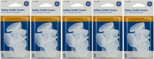 GE Outlet Safety Covers, Clear 40 Count from GE