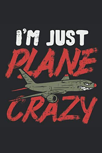 I'm Just Plane Crazy: Insane Airplane. Ruled Composition Notebook to Take Notes at Work. Lined Bullet Point Diary, To-Do-List or Journal For Men and Women.
