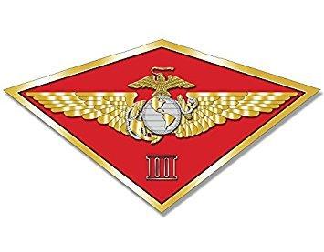 (MAGNET MAW 3rd THIRD Marine Aircraft Wing Magnet(diamond shaped iii usmc) Size: 3.5 x 5)