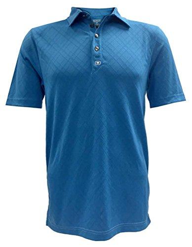 OGIO Men's Golf Fly-Wheel Polo, Moisture Wicking Shirt Small, Sky 1402S.175