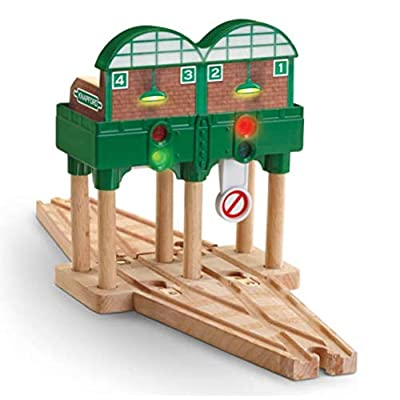 Lights & Sounds Knapford Station - Thomas Wooden Railway Tank Engine Train Loose: Toys & Games