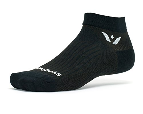Performance One Compression Socks - Swiftwick PERFORMANCE ONE, Ankle Socks for Running, Black, Large