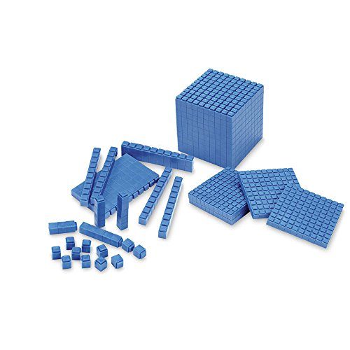 Division Classroom Kit (ETA hand2mind Blue Interlox Base Ten Blocks, Starter Set (Set of 161))