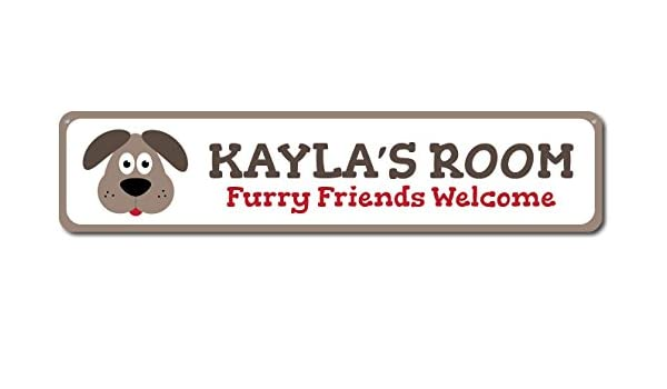 Puppy Dog Kid Room Sign ENSA1002065 Personalized Furry Friends Welcome Child
