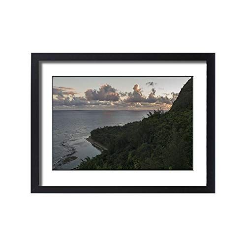 (Media Storehouse Framed 24x18 Print of Stunning View Along Hanakapiai Portion of The Kalalau Trail (18243823))