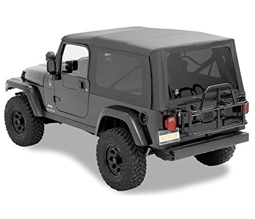 Bestop 79140-35 Black Diamond Sailcloth Replace-A-Top Soft Top with Tinted Windows; no Door Skins Included for 2004-2006 Wrangler TJ Unlimited ()