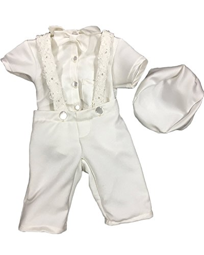 Newdeve Baby Boys Christening Outfit Baptism Infant 3 Pieces With Pants by New Deve