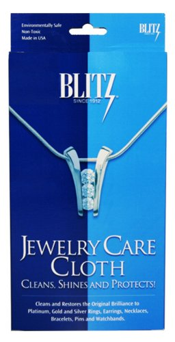 (Blitz 9617 Jewelry Care Cloth for Cleaning, Shining, and Protecting, 6-Pack)