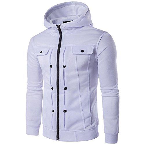 Men's Jackets, Realdo Hooded Slim Designed Lapel Cardigan Coat