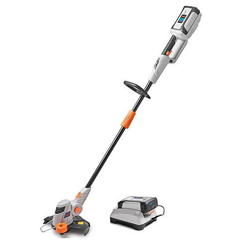 VonHaus 40V Max Cordless String Trimmer/Edger with Angle Adjustment and Head Rotation - Includes 2.0Ah Lithium-ion Battery and Charger