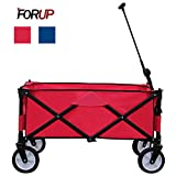 FORUP Collapsible Folding Outdoor Utility Wagon Cart (Red)