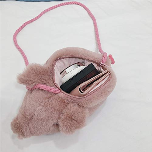 BAOBAOTIAN Fashion Personality Plush Bag New Pig Bag Shoulder Messenger Bag Female