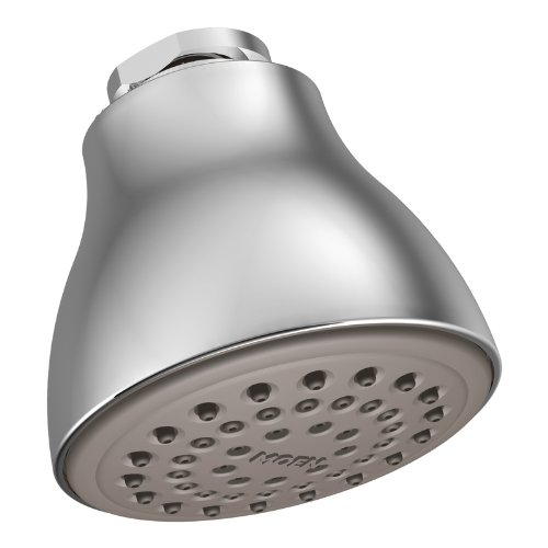 Moen 6300 One-Function 2 1/2-Inch Diameter Spray Head Standard Showerhead, Chrome (Head Standard Spray)